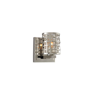 Bridgeport Brushed Stainless Steel One Light Bath Sconce