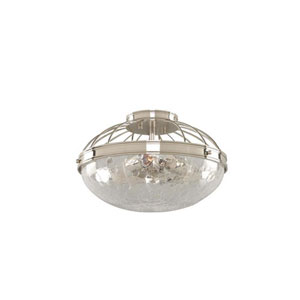 Montauk Polished Nickel Three Light Fourteen Inch Flush Mount