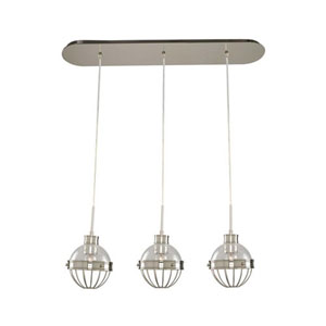 Montauk Polished Nickel Three Light Island Pendant