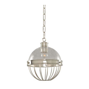 Montauk Polished Nickel One Light Nine Inch Mini-Pendant