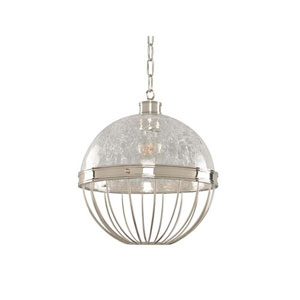 Montauk Polished Nickel One Light Twelve Inch Pendant