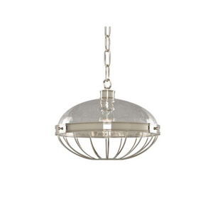 Montauk Polished Nickel One Light Fourteen Inch Pendant