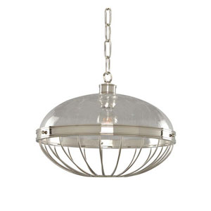 Montauk Polished Nickel One Light Sixteen Inch Pendant