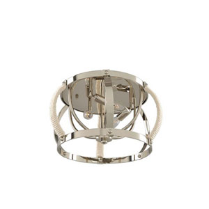 Bradbury Polished Nickel Three Light Flush Mount
