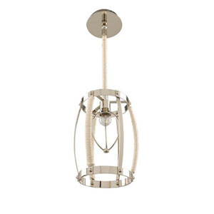 Bradbury Polished Nickel One Light Mini Pendant