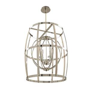 Bradbury Polished Nickel Four Light Pendant