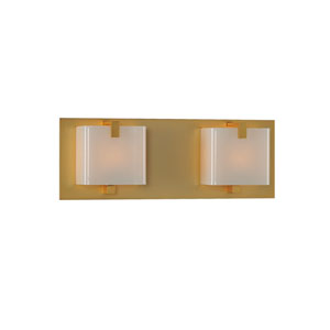 Meridian Gold Two Light Bath Sconce