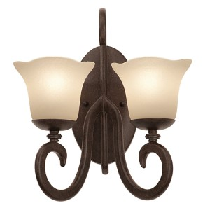 Santa Barbara Tortoise Shell Two-Light Wall Bracket