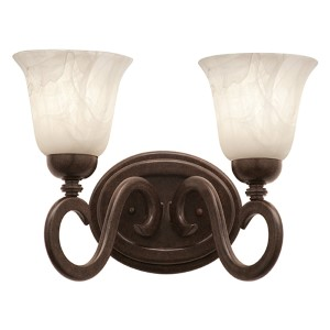 Santa Barbara Tortoise Shell Two-Light Bath Fixture