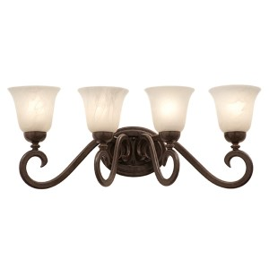 Santa Barbara Tortoise Shell Four-Light Bath Fixture