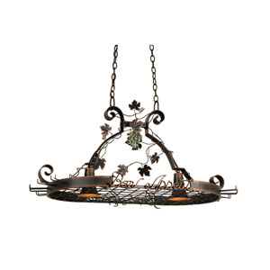 Bon Appetit Antique Copper Two-Light Pot Rack
