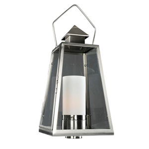 Revere Stainless Steel 1-Light 11.75-Inch Outdoor Pier Mount Base