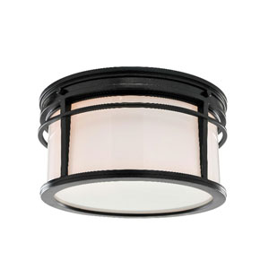 Mason Bronze Dusk Three Light Flush Mount