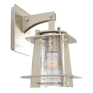 Shelby Tarnished Silver One-Light Small Outdoor Wall Bracket