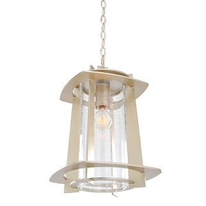 Shelby Tarnished Silver One-Light Hanging Lantern