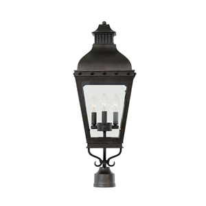 Winchester Aged Iron 3-Light 10-Inch Outdoor Pier Mount Base