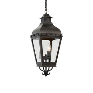 Winchester Aged Iron 3-Light 10-Inch Outdoor Pendant