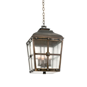 Sherwood Aged Bronze 4-Light 13.25-Inch Outdoor Pendant