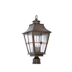 Belle Grove Aged Bronze 4-Light 10.75-Inch Outdoor Pier Mount Base