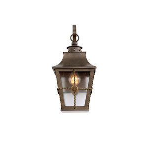 Belle Grove Aged Bronze 1-Light 8.25-Inch Outdoor Wall Bracket