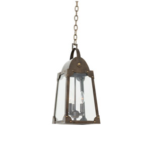 Arlington Aged Bronze 3-Light 9-Inch Outdoor Pendant