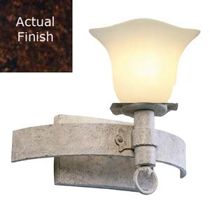 Americana Copper Claret Venetian Piastra One-Light Sconce