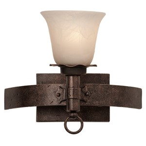 Americana Copper Claret One-Light Bath Fixture