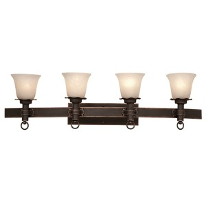 Americana Antique Copper Four-Light Bath Fixture