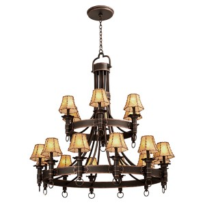 Americana Antique Copper 18-Light Chandelier