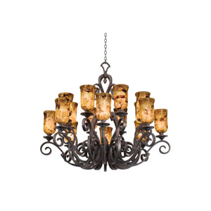 Ibiza Antique Copper Sixteen-Light Chandelier