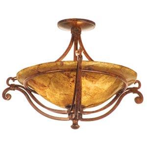 Somerset Tortoise Shell Semi-Flush Ceiling Light