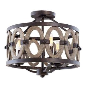 Belmont Florence Gold Three-Light Flush Mount