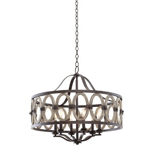 Belmont Florence Gold Six-Light Pendant