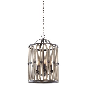 Belmont Florence Gold Five-Light Foyer Pendant