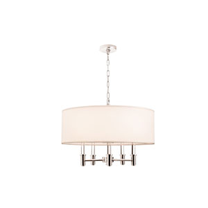DuPont Chrome 6-Light 26-Inch Pendant