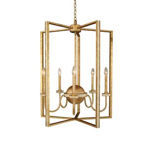 LaSalle Honey Gold 1-Light 28-Inch Foyer Pendant