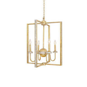 Shorecrest Honey Gold Four Light Chandelier