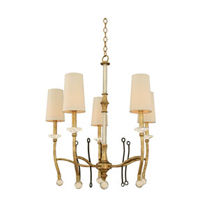 Waverly Honey Gold 5-Light 28-Inch Chandelier