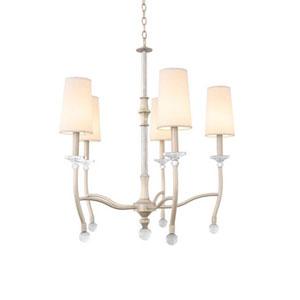 Waverly Pearl Silver Five Light Chandelier