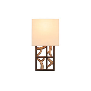 Hudson Antique Bronze with Antique Gold 1-Light 6.75-Inch Wall Sconce