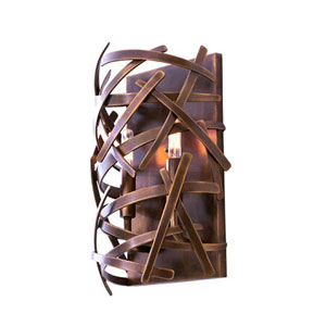 Ambassador Copper Patina 2-Light 9.25-Inch Wall Sconce