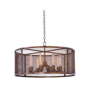 Chelsea Copper Patina 8-Light 32-Inch Pendant