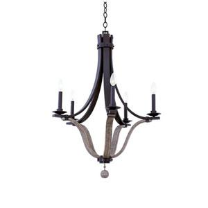 Lansing Satin Bronze 5-Light 26.5-Inch Chandelier