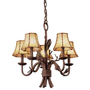 Ponderosa Five-Light Chandelier