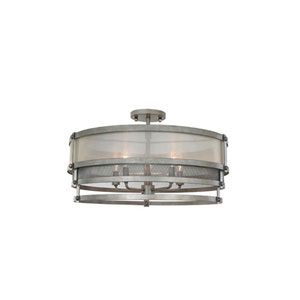 Delano Jewel Bronze Five Light Semi Flush