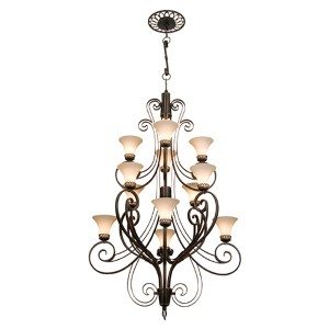 Mirabelle Antique Copper 12-Light Foyer Pendant