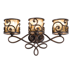 Windsor Antique Copper Three-Light Bath