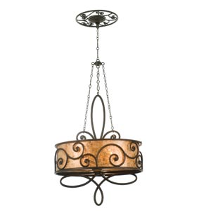 Windsor Four-Light Oval Drum Pendant
