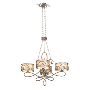 Windsor Aged Silver Twenty Light Chandelier