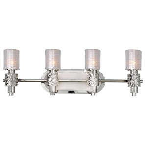 Ashington Polished Satin Nickel Four-Light Bath Fixture
